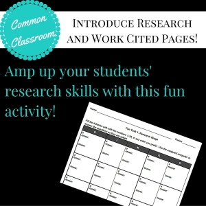 CCC Research Bingo